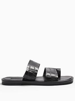topshop-double-strap-flat-sandals-black