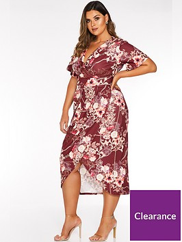 quiz-curve-quiz-curve-better-floral-chain-print-wrap-dress