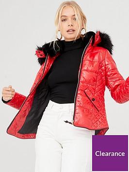 river-island-river-island-high-shine-padded-jacket--red
