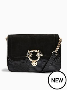topshop-topshop-double-panther-cross-body-bag-black