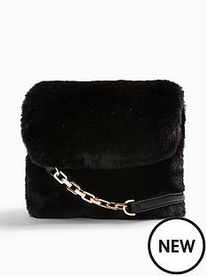 topshop-topshop-faux-fur-cross-body-bag-black