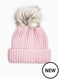 topshop-topshopnbspfaux-fur-pomnbsppom-hat-pink