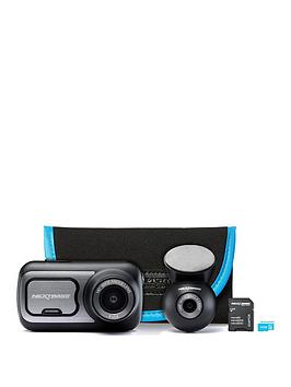 Nextbase   422 Dash Cam Exclusive Bundle With Rear Camera, 32Gb Memory Card And Carry Case