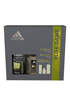 adidas-adidas-pure-game-trio-50ml-eau-de-toilette-deodorant-and-shower-gel-3-in-1-wash-gift-set
