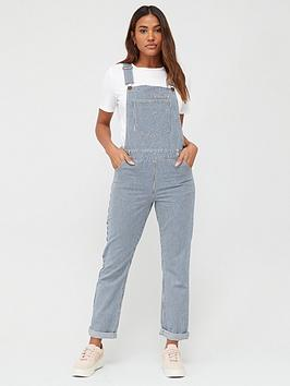 V by Very V By Very Ticking Stripe Dungarees - Stripe Picture