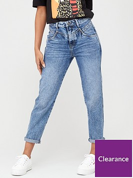 v-by-very-authentic-mid-dark-rose-yoke-mom-jeans-mid-wash