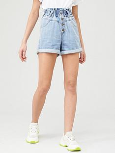 v-by-very-paperbag-waist-denim-short-mid-wash