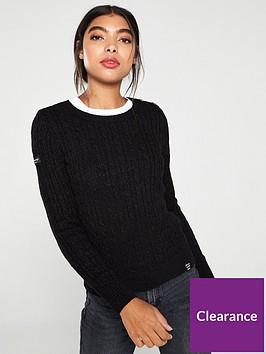 superdry-croyde-cable-knit-jumper-black