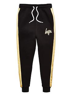 hype-boys-foil-panel-jog-pants-black