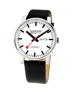 mondaine-mondaine-swiss-made-evobig-white-daydate-automatic-dial-polished-stainless-steel-40mm-case-black-leather-strap-watch