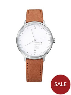 mondaine-mondaine-swiss-made-helvetica-no1-light-white-sapphire-glass-date-dial-brushed-stainless-steel-38mm-case-tan-leather-strap-watch