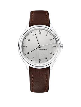 Mondaine Mondaine Mondaine Swiss Made Helvetica No1 Regular Silver  ... Picture