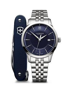 victorinox-victorinox-swiss-made-alliance-blue-sapphire-glass-40mm-date-dial-stainless-steel-bracelet-watch-and-swiss-army-knife-gift-set