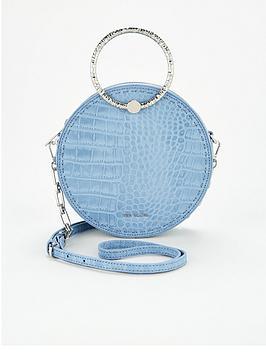 ted-baker-textured-metal-handle-circle-cross-body-bag-blue