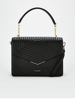 ted-baker-quilted-envelope-top-handle-bag-black
