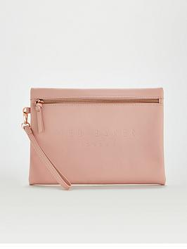 Ted Baker Ted Baker Saffiano Deboss Wristlet Pouch - Dusky Pink Picture