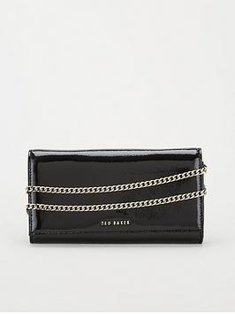 Ted Baker Ted Baker Enrici Crinkle Patent Cross Body Matinee Bag - Black Picture