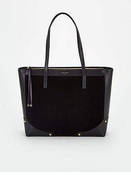 ted-baker-arriah-folded-corner-detail-shopper-black