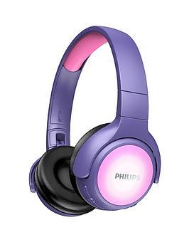 philips-takh402pk-wireless-bluetooth-kids-headphones-pinkpurple
