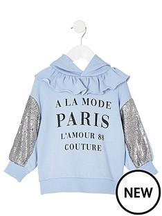 river-island-mini-mini-girls-printed-sequin-sleeve-hoddie-blue