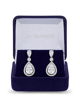 Jon Richard Jon Richard Jon Richard Cubic Zirconia Tennis Pear Crystal  ... Picture