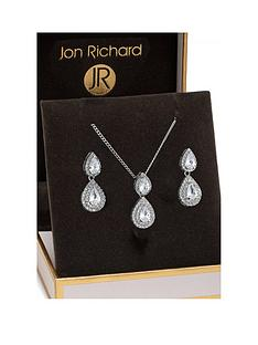 jon-richard-double-pear-drop-pendant-and-earring-set