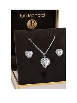 Jon Richard Jon Richard Jon Richard Cubic Zirconia Pave Heart Pendant And  ... Picture
