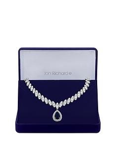 jon-richard-jon-richard-cubic-zirconia-baguette-navette-sapphire-pear-drop-necklace