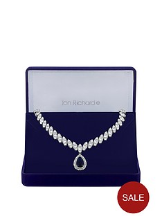 jon-richard-jon-richard-cubic-zirconia-baguette-navette-sapphire-pear-drop-necklace