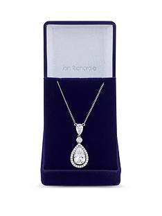 jon-richard-jon-richard-cubic-zirconia-tennis-pear-crystal-drop-pendant