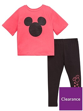 minnie-mouse-girls-2-piece-glitter-t-shirt-and-leggings-set-blackpink