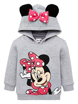 Minnie Mouse Minnie Mouse Girls Minnie Mouse Ears Overhead Hoodie - Grey  ... Picture