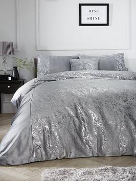 Very Alexis Marble Foil And Velvet Duvet Cover Set Picture