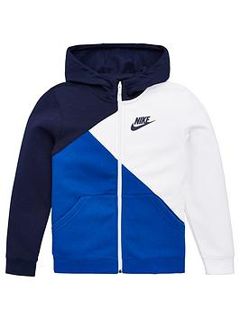 Nike Nike Sportswear Older Boys Core Amplify Full Zip Hoodie - Navy/White Picture