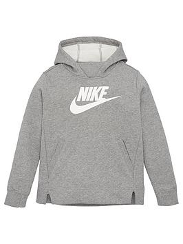 Nike Nike Sportswear Older Girls Overhead Hoodie - Grey Heather Picture