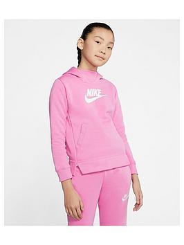 Nike Nike Sportswear Older Girls Overhead Hoodie - Pink Picture