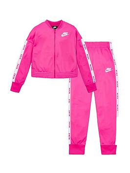 Nike Nike Sportswear Older Girls Tricot Tracksuit - Pink Picture