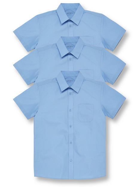 v-by-very-boys-3-pack-short-sleeved-school-shirt-blue