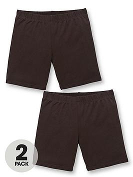 V by Very V By Very Girls 2 Pack School Cycling Shorts - Black Picture