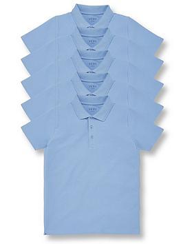 V by Very V By Very Boys 5 Pack Polo School Tops - Blue Picture