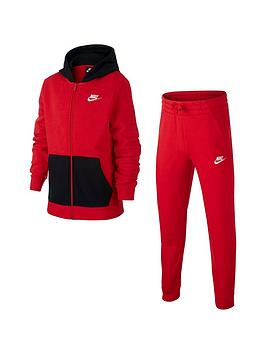 Nike Nike Nsw Older Boys Core Tracksuit Jogger Set - Black/Red Picture