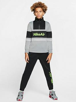 Nike Nike Nsw Air Older Boys Tracksuit - Grey/Black Picture