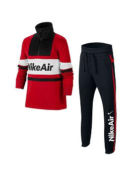 Nike Nike Nsw Air Older Boys Tracksuit - Red/Black Picture