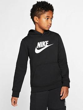 Nike Nike Sportswear Older Boys Amplify Hoodie - Black/Grey Picture
