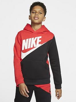 Nike Nike Sportswear Older Boys Amplify Overhead Hoodie - Red/Black Picture