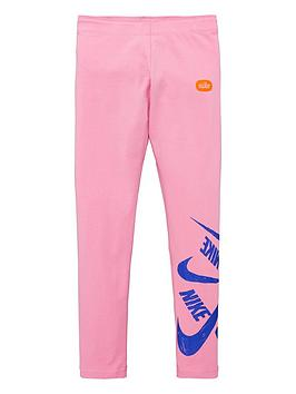 Nike Nike Sportswear Older Girls Marker Leggings - Pink Picture