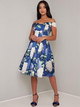 Chi Chi London Petite Chi Chi London Petite Ilona Dress - Navy Picture
