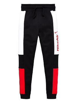 Nike Nike Sportswear Air Older Boys Joggers - Black/Red Picture