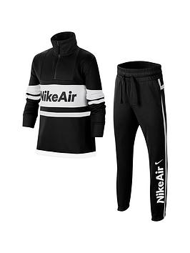 Nike Nike Air Sportswear Older Boys Tracksuit - Black/White Picture