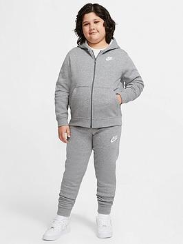 Nike Nike Nsw Older Boys Club Full Zip Hoodie - Grey Heather Picture